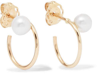 Natasha Schweitzer - Lara 9-karat Gold Pearl Hoop Earrings