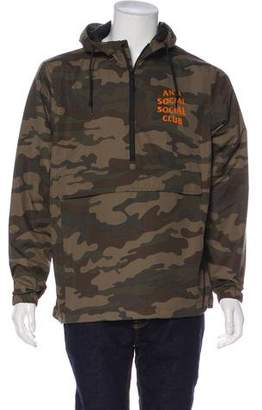 Anti Social Social Club 2017 Half-Zip Anorak Pullover EZ Jacket