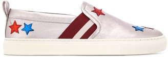Bally star patch slip-on sneakers