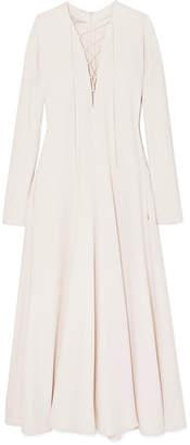 Stella McCartney Lace-up Cady Maxi Dress - Cream