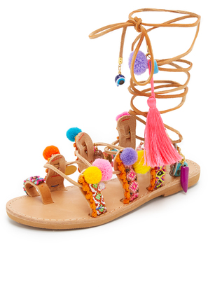 Elina Linardaki Penny Lane Lace Up Sandals $189 thestylecure.com