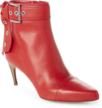 Alexander McQueen Lust Red Leather Ankle Booties