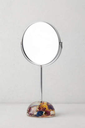 Acrylic Dried Floral Tabletop Mirror