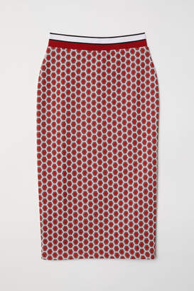 H&M Patterned Pencil Skirt - Red