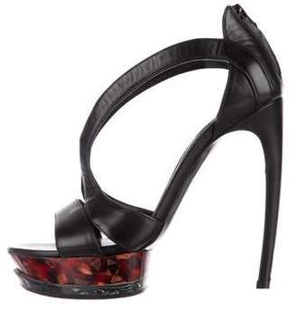 Alexander McQueen Leather Platform Sandals