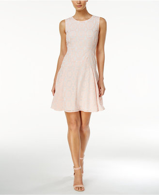 Tommy Hilfiger Printed Drop-Waist A-Line Dress $134 thestylecure.com