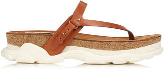 STELLA MCCARTNEY Canyon faux-leather slip-on sandals $605 thestylecure.com