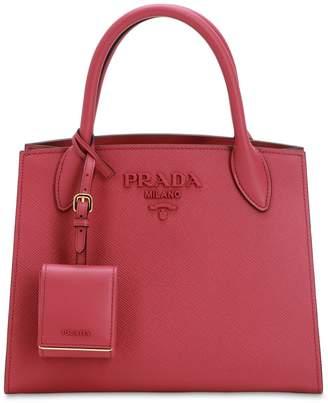 Prada (プラダ) - PRADA MONOCHROME スモール サフィアーノレザーバッグ