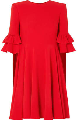 Alexander McQueen Ruffle-trimmed Crepe Mini Dress - Red