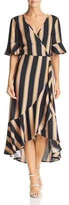 Band of Gypsies Victoria Herringbone Stripe Wrap Dress