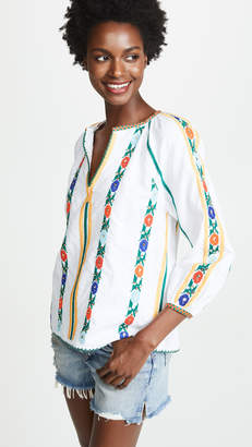 Love Sam Jillian Embroidered Blouse