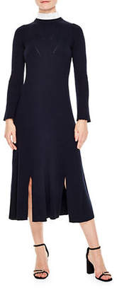 Sandro Peau Long Sleeve Dress