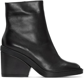Robert Clergerie Black Babe Ankle Boots $630 thestylecure.com