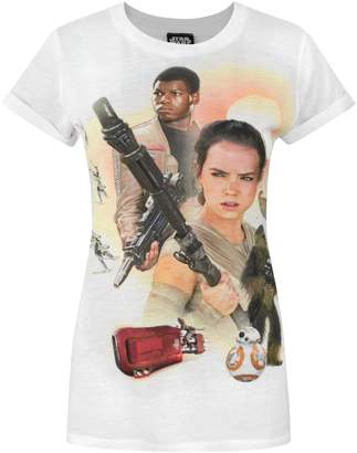 Star Wars Official Force Awakens Heroes Sublimation Women's T-Shirt (L)