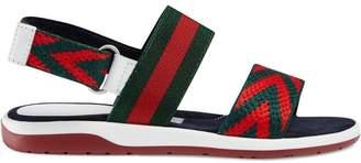c4605feb71a5b5 Gucci Kids Children s Chevron leather sandals