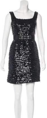 Marchesa Sequin Evening Dress