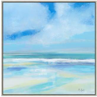 Pottery Barn Day at the Beach Hand Embellished Framed Canvas Print