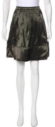 Miu Miu Satin Knee-Length Skirt