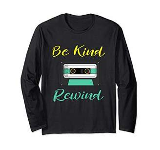 Be Kind Rewind Vintage Mixed Tape Long Sleeve Shirt