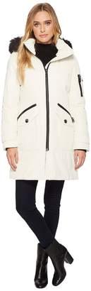 Calvin Klein Parka with Detachable Fur Trimmed Hood Women's Coat