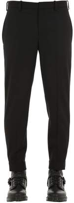 Neil Barrett Clip Cuff Stretch Wool Twill Pants