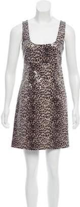 Bailey 44 Embellished Leopard Print Dress