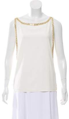 Tamara Mellon Embellished Sleeveless Top
