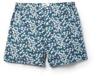Sleepy Jones Jasper Liberty Misti Nightflowers Print Boxer Shorts $48 thestylecure.com