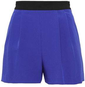 Milly Two-tone Cady Shorts