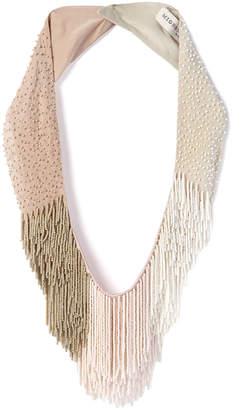 Mignonne Gavigan Petite Le Marcel Beaded Fringe Necklace, Light Pink