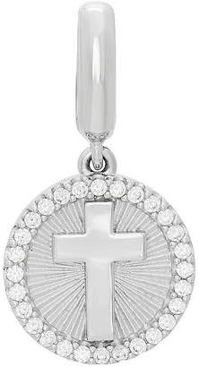 Silver Cross FINE JEWELRY Ps Personal Style White Cubic Zirconia Sterling Charm