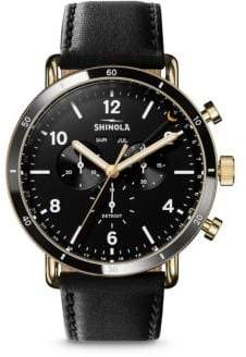 Shinola The Canfield Sport Leather Strap Watch