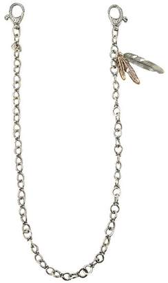 John Varvatos Collection Sterling Silver, Brass & Bronze Artisan Metals Feathers Wallet Chain