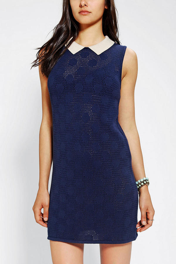 Urban Outfitters Cooperative Polka Dot Sweater Shift Dress