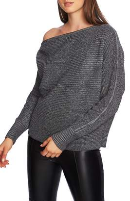 1 STATE 1.STATE Convertible Zip Neckline Sweater
