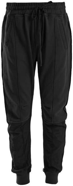 Stripe-trimmed panelled track pants