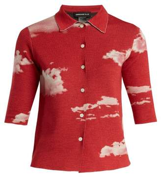Undercover - Cloud Print Reversible Wool Shirt - Womens - Black Red