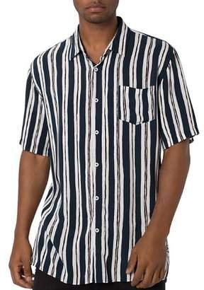 Zanerobe Impression Short-Sleeve Striped Regular Fit Shirt