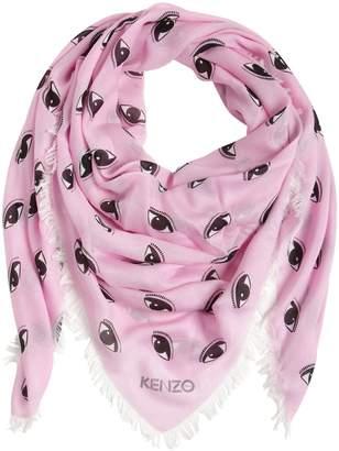 Kenzo Fringed Jacquard Silk & Modal Scarf