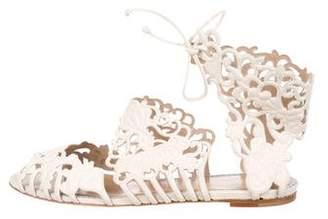 Sophia Webster Laser-Cut Suede Sandals