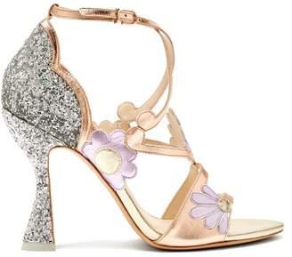 Sophia Webster Frida Floral Embellished Metallic Leather Sandals - Womens - Multi