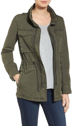 Women's Levi's Four-Pocket Military Jacket $150 thestylecure.com