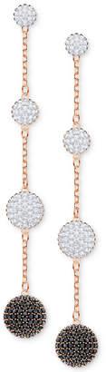 Swarovski Rose Gold-Tone Crystal Lollipop Linear Drop Earrings