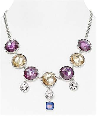 Marc by Marc Jacobs Marc Jacobs Womens Pink Paste and Prints Crystal Drop Toggle Bib Necklace