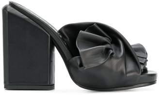 Cinzia Araia tie detail block heel sandals