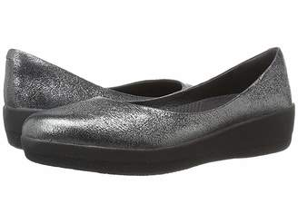 FitFlop Leather Superballerina Women's Clog/Mule Shoes