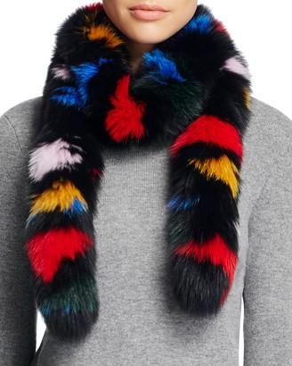 Loeffler Randall Fox Fur Stole Scarf $650 thestylecure.com