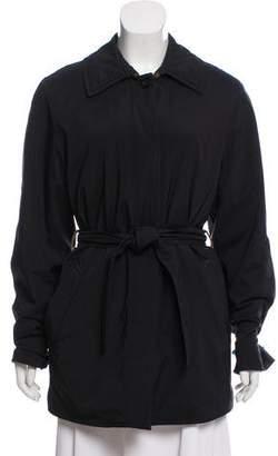 Loro Piana Suede-Accented Short Raincoat