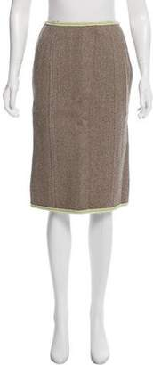 Miu Miu Wool Tweed Skirt