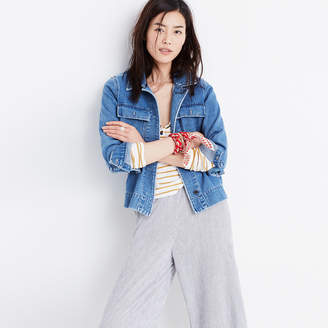 Northward Cropped Army Jacket in Denim $128 thestylecure.com